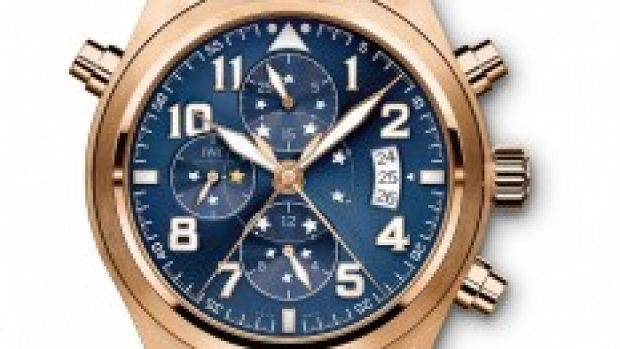 "Rose Gold IWC Pilot's Watch Double Chronograph Edition ""Le Petit Prince"" Replica Watch"