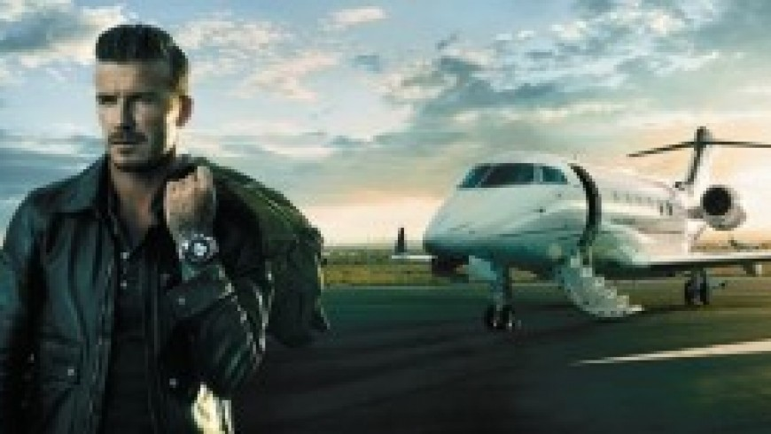 David Beckham Travels with Breitling Transocean Chronograph Unitime Replica Watches