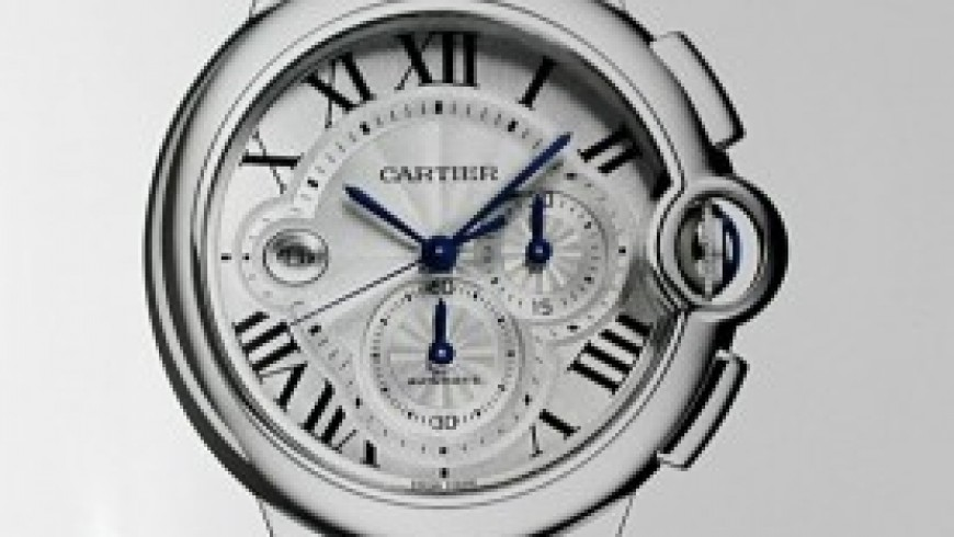 Replica cartier ballon bleu chronograph steel watches for men