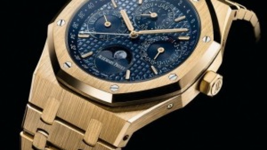 Yellow Gold Audemars Piguet Royal Oak Perpetual Calendar Replica Watches