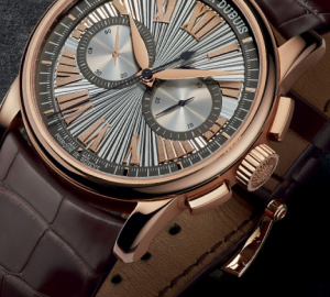 Guilloche Silver Dial Roger Dubuis Hommage Automatic Pink Gold  Replica Watches