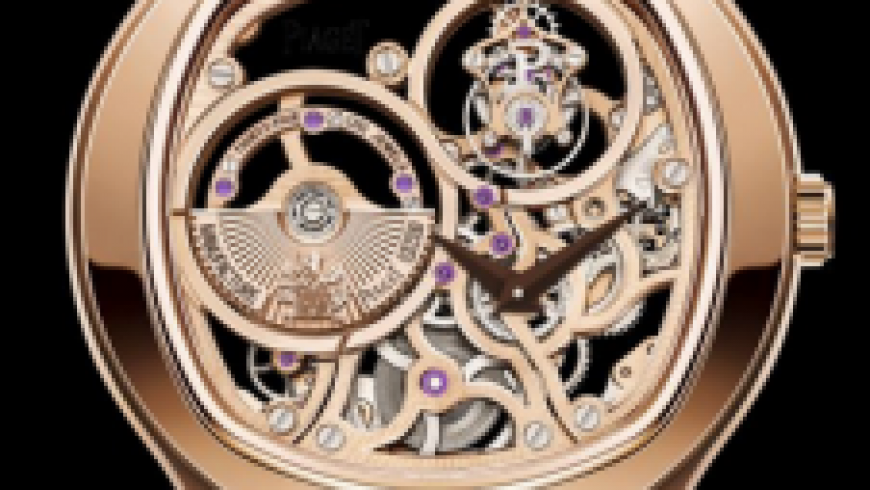 Unique Piaget Emperador Tourbillon Skeleton Cushion Rose Gold Replica Watches For Men