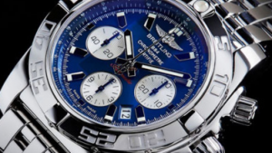 Special Replica Men's Breitling Chronomat 44  Blue Dial Watches For Autism