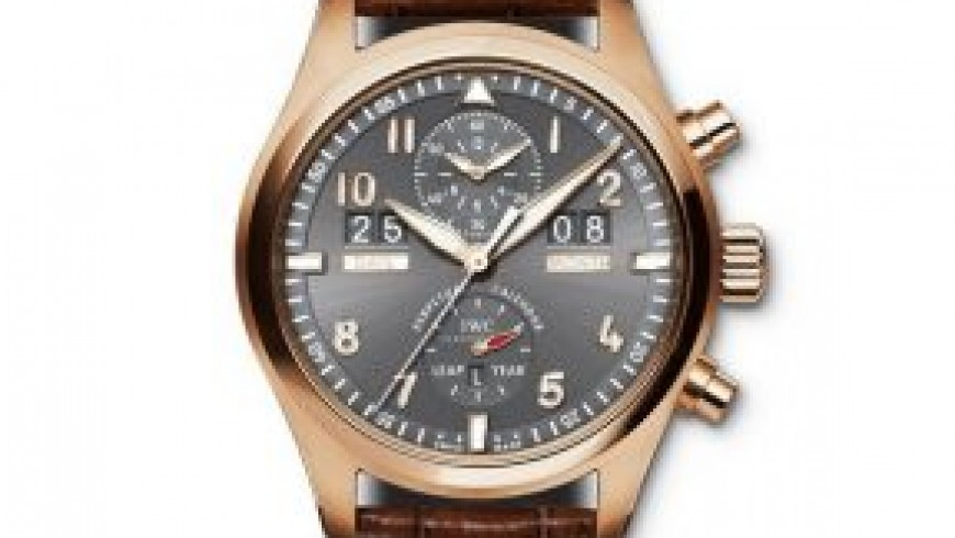 Rose Gold IWC Spitfire Perpetual Calendar Chronograph Replica Watch ref.IW379103