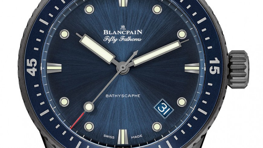 Deep Blue Dial Ceramic Cases Blancpain Fifty Fathoms Fake Watches
