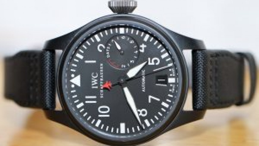 Top Quality Black Dial IWC Big Pilot Top Gun Replica Watch