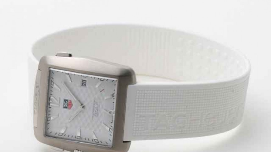 Titanium Case TAG Heuer Professional Golf Watch White Silicon Strap Replica Watch