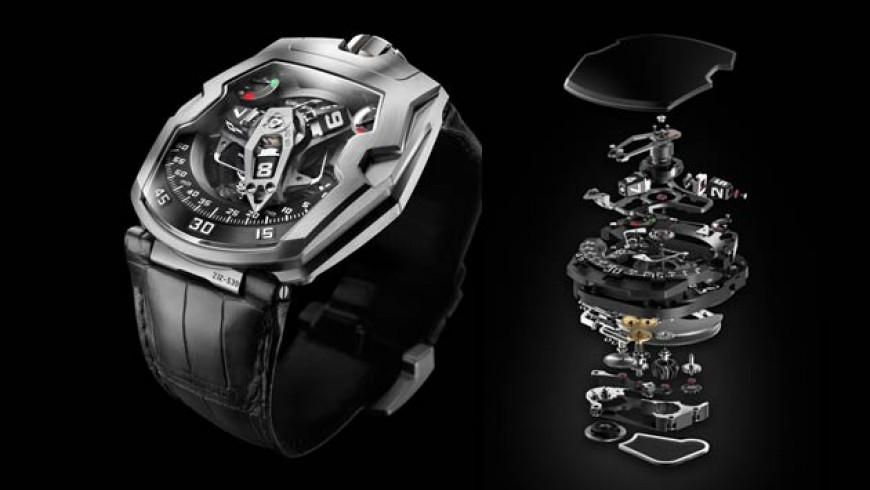 Best quality steel case urwerk ur-210 watch replica