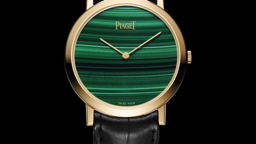 Piaget Altiplano 38 mm Malachite Dial Yellow Gold Replica Watch