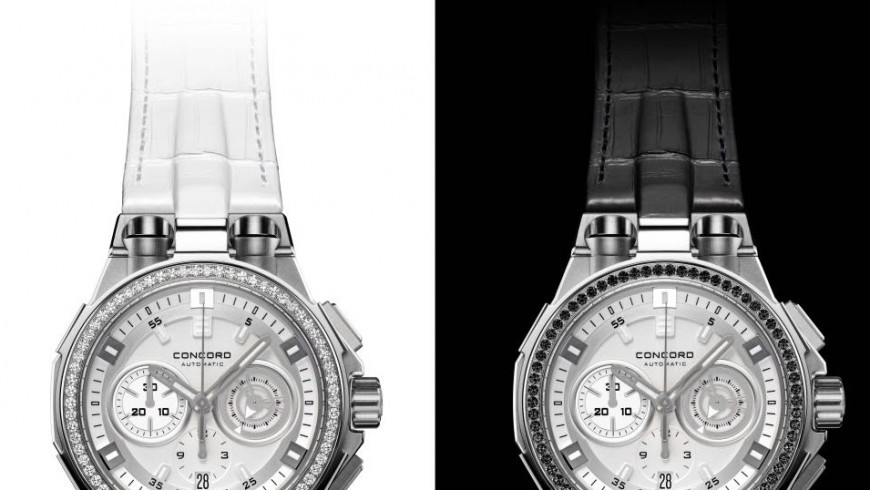 Black & white concord c2 automatic chronograph replica watch