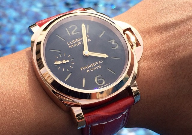 Best Panerai Luminor Marina 8 Days Oro Rosso Replica Watch PAM 511