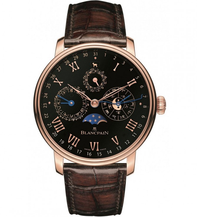 Rose Gold Blancpain Villeret Traditional Chinese Calendar Replica Watch