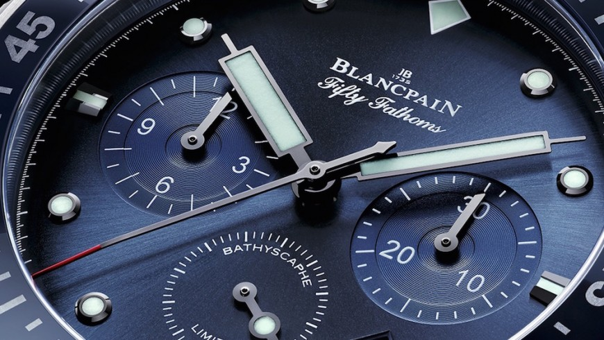 New blancpain ocean commitment bathyscaphe chronograph flyback replica watch
