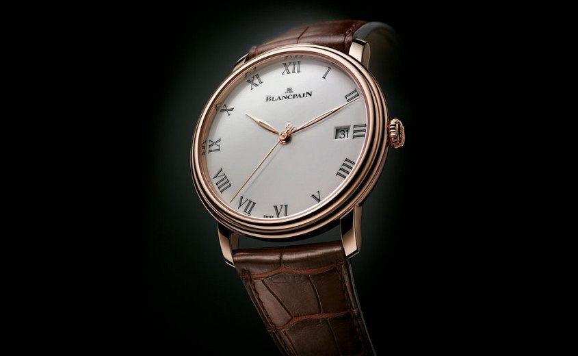 Rose Gold Blancpain Villeret Grand Feu Replica Watch