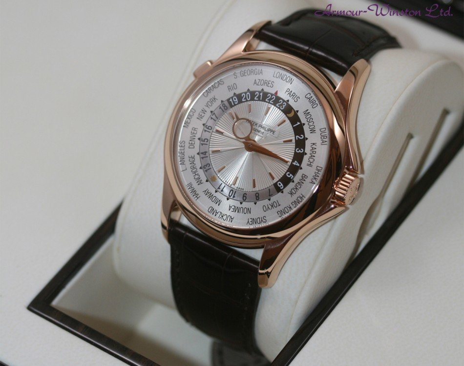 39.5 mm Patek Philippe Complicated World Time Replica Watch
