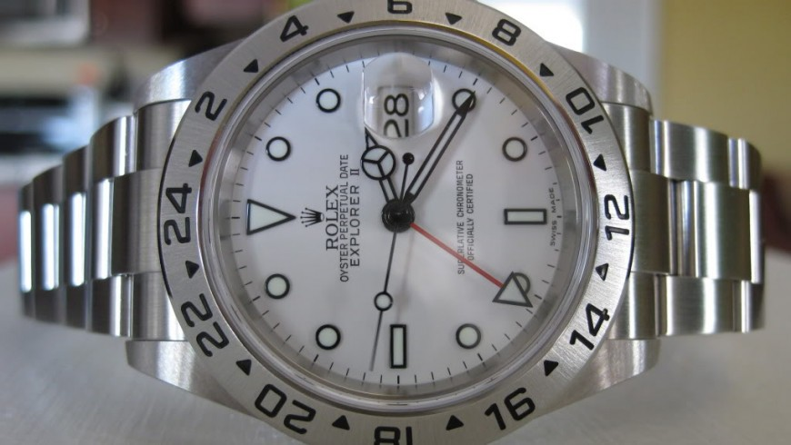White Dial Rolex Explorer II Replica Watch Ref.16570