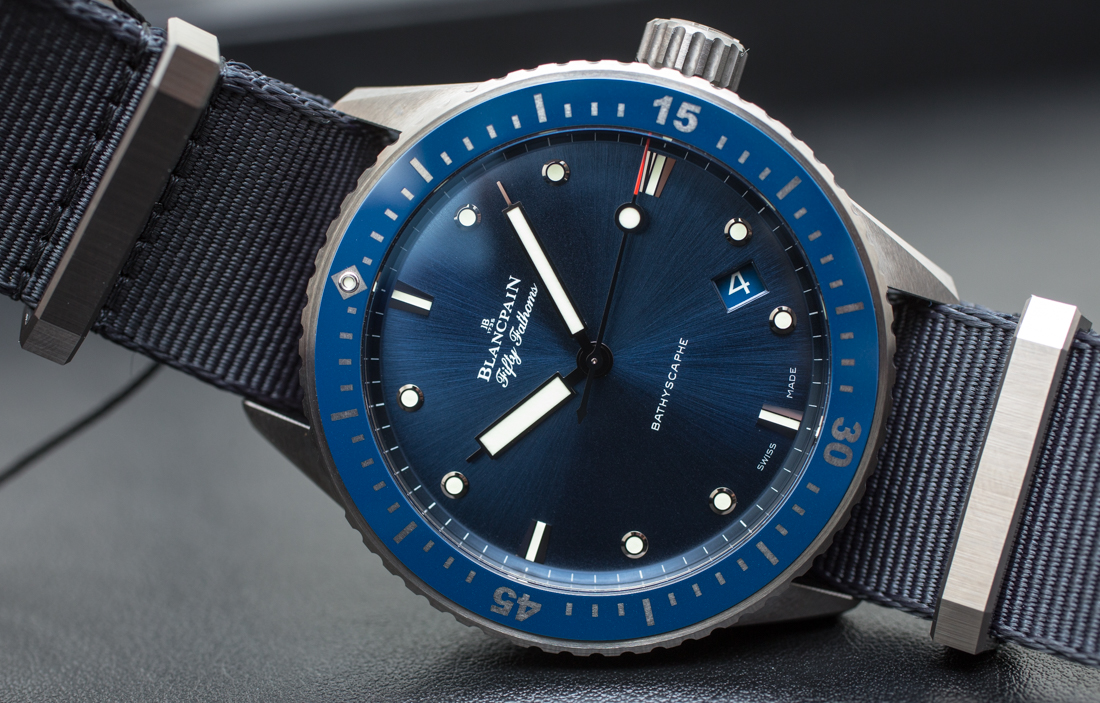 Blancpain Fifty Fathoms Bathyscaphe Blue & Ceramic Watch Hands-On Low Price Replica