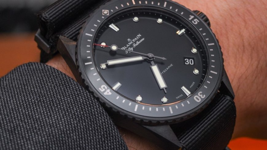 Blancpain Fifty Fathoms Bathyscaphe Watch In Ceramic For 2015 Hands-On Replica Wholesale