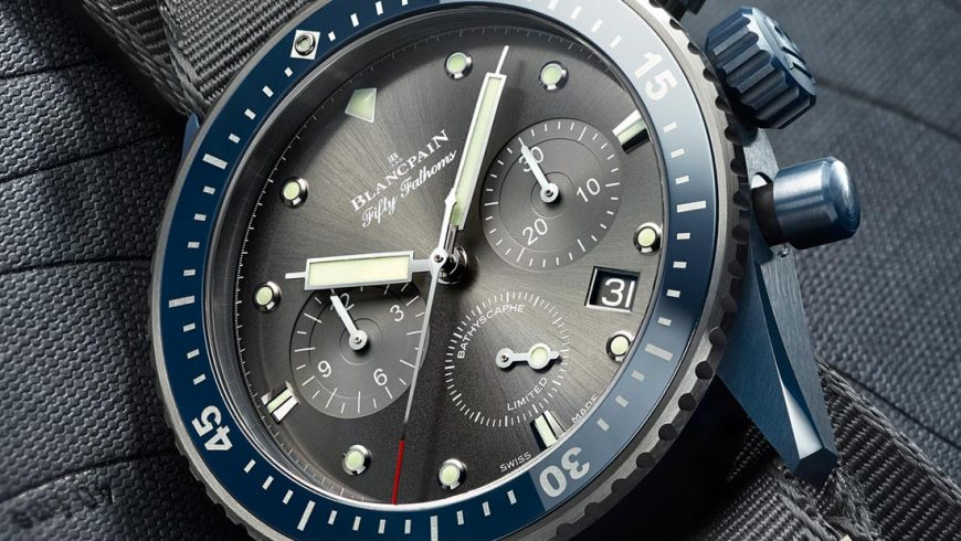Blancpain Fifty Fathoms Bathyscaphe Flyback Chronograph Ocean Commitment II Watch Now In Blue Ceramic Case Replica Trusted Dealers