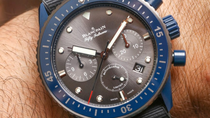 Blancpain Fifty Fathoms Bathyscaphe Flyback Chronograph Ocean Commitment II Watch Hands-On Replica For Sale