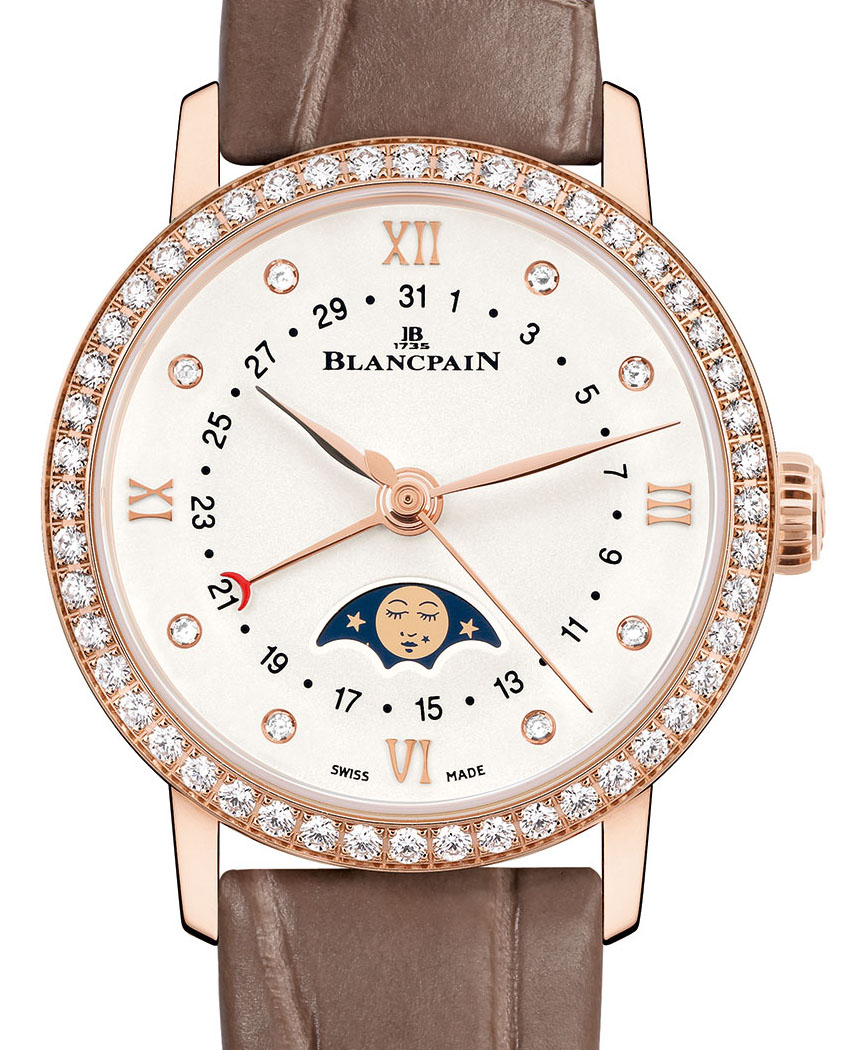 Blancpain Villeret Date Moonphase Ladies' Watch Replica Watches Free Shipping