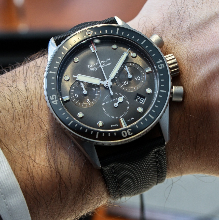 Blancpain Fifty Fathoms Bathyscaphe Flyback Chronograph Watch Hands-On Grade 1 Replica Watches