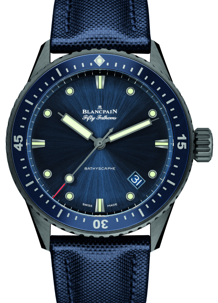 Blancpain Fifty Fathoms Bathyscaphe Best Replica Watches In Gray Plasma Ceramic